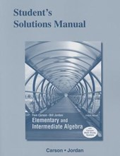 Student's Solutions Manual for Elementary and Intermediate Algebra