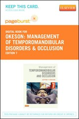 Management of Temporomandibular Disorders and Occlusion - Pageburst E-Book on Vitalsource (Retail Access Card) | Jeffrey P. Okeson |