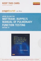 Ruppel's Manual of Pulmonary Function Testing - Pageburst E-Book on Kno (Retail Access Card) | Carl Mottram |