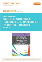 Strategies, Techniques, and Approaches to Critical Thinking - Pageburst E-Book on Kno (Retail Access Card) | Sandra Luz Martinez De Castillo |