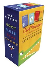 Hiaasen 4-Book Trade Paperback Box Set (Chomp, Flush, Hoot, Scat) | Carl Hiaasen |