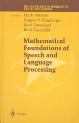Mathematical Foundations of Speech and Language Processing | auteur onbekend |
