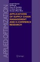 Applications of Supply Chain Management and E-Commerce Research | auteur onbekend |