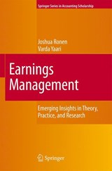 Earnings Management | Joshua Ronen |