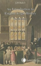 Introduction to English Legal History | J.H. Baker |