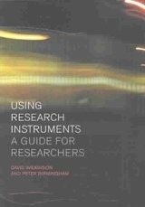 Using Research Instruments | David Wilkinson |