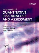 Encyclopedia of Quantitative Risk Analysis and Assessment | Edward L. Melnick |