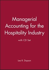 Managerial Accounting for the Hospitality Industry with CD Set | Lea R. Dopson |