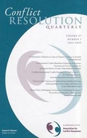 Conflict Resolution Quarterly, Volume 27, Number 1, Autimn