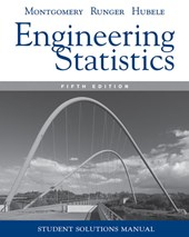 Student Solutions Manual Engineering Statistics,