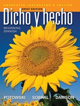 Dicho en breve Annotated Instructor's Edition & Audio (Brief Version of Dicho y hecho, Ninth Edition with accompanying Audio) | Laila M. Dawson |