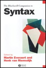 The Blackwell Companion to Syntax, Volumes 1 - 5 Set | Martin Everaert |