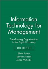 Information Technology for Management | Efraim Turban |
