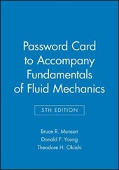 Password Card to accompany Fundamentals of Fluid Mechanics