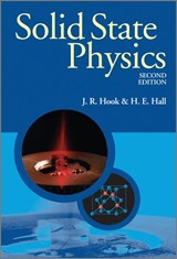 Solid State Physics | John R. Hook & Henry Edgar Hall |