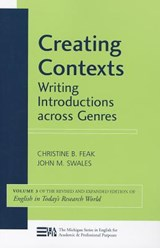Creating Contexts | Christine Feak |