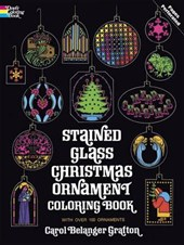 Stained Glass Christmas Ornament Coloring Book