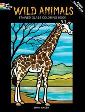 Wild Animals Stained Glass Colouring Book