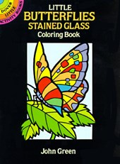 Little Butterflies Stained Glass Colouring Book