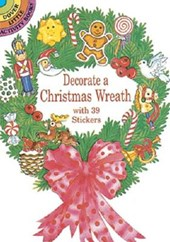Decorate a Christmas Wreath with 39 Stickers