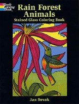 Rain Forest Wildlife Stained Glass Coloring Book | Jan Sovak |