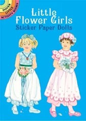 Little Flower Girls Sticker Paper Dolls