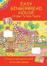 Easy Gingerbread House Sticker Picture Puzzle [With Stickers] | Larry Daste |