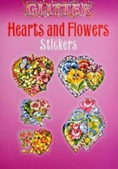 Glitter Hearts and Flowers Stickers