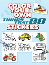 Color Your Own Things That Go Stickers | Cathy Beylon |