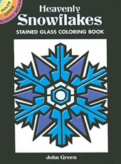 Heavenly Snowflakes Stained Glass Coloring Book | John Green |