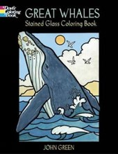 Great Whales Stained Glass Coloring Book