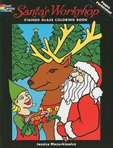 Santa's Workshop Stained Glass Coloring Book | Jessica Mazurkiewicz |