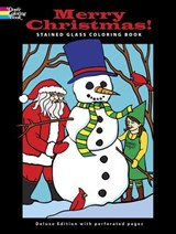 Merry Christmas! Stained Glass Coloring Book | John Green |