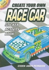 Create Your Own Race Car Sticker Activity Book [With Sticker(s)]