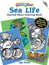 Sea Life Gemglow Stained Glass Coloring Book