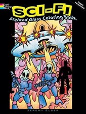 Sci-Fi Stained Glass Coloring Book