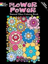 Flower Power Stained Glass Coloring Book