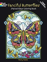 Fanciful Butterflies Stained Glass Coloring Book | Marty Noble |
