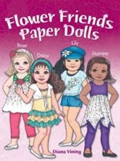 Flower Friends Paper Dolls | Diana Vining |