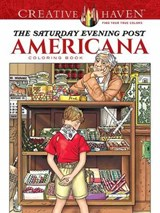 Creative Haven the Saturday Evening Post Americana Coloring Book | Marty Noble |
