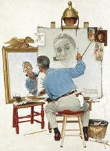 Norman Rockwell's Triple Self-Portrait from the Saturday Evening Post Notebook | Norman Rockwell |