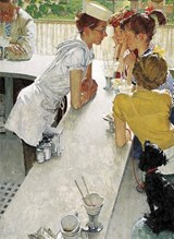 Norman Rockwell's the Soda Jerk from the Saturday Evening Post Notebook | Norman Rockwell |