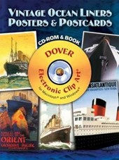 Vintage Ocean Liners Posters and Postcards CD-ROM and Book [With CDROM]