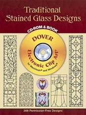Traditional Stained Glass Designs [With CDROM] | Dover Publications Inc |