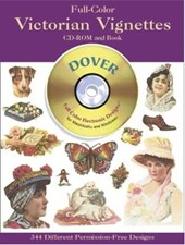 Full-Color Victorian Vignettes CD-ROM and Book [With CDROM]