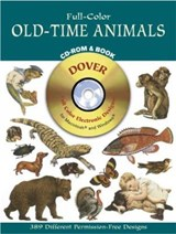 Full-Color Old-Time Animals CD-ROM and Book | Dover Publications Inc |