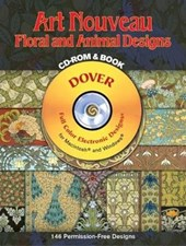 Art Nouveau Floral and Animal Designs [With CD-ROM] | M. P. Verneuil |