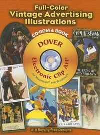 Full-Color Vintage Advertising Illustrations [With CDROM]   auteur onbekend  