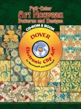 Full-Color Art Nouveau Patterns and Designs [With CDROM] | Rene Beauclair |