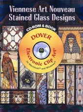 Viennese Art Nouveau Stained Glass Designs [With CDROM] | Dover |